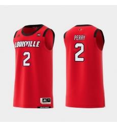 Men Louisville Cardinals Darius Perry Red Replica College Basketball Jersey