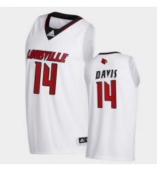 Men Louisville Cardinals Dre Davis College Basketball White Swingman 2020 21 Jersey