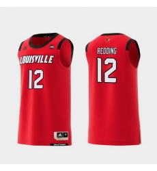 Men Louisville Cardinals Jacob Redding Red Replica College Basketball Jersey