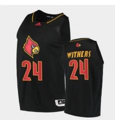 Men Louisville Cardinals Jae'Lyn Withers Alternate Black College Basketball 2020 21 Jersey