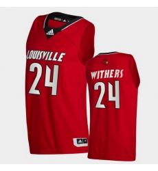 Men Louisville Cardinals Jae'Lyn Withers College Basketball Red Swingman 2020 21 Jersey