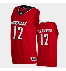 Men Louisville Cardinals Jj Traynor College Basketball Red Swingman 2020 21 Jersey