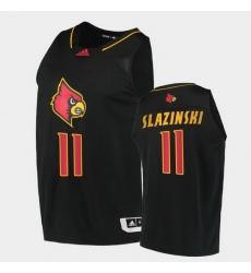 Men Louisville Cardinals Quinn Slazinski Alternate Black College Basketball 2020 21 Jersey