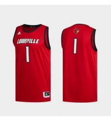 Men Louisville Cardinals Red Swingman Basketball Jersey