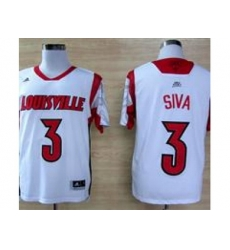 ncaa Louisville Cardinals #3 2013 March Madness Peyton Siva Authentic Jersey White