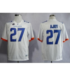 Broncos #27 Jay Ajayi White Stitched NCAA Jersey