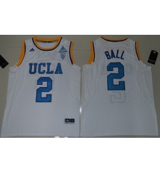 Bruins #2 Lonzo Ball White Authentic Basketball Stitched NCAA Jersey