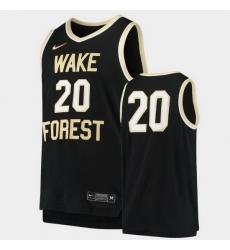 Men Wake Forest Demon Deacons Replica Black Basketball Jersey