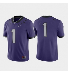 Men Tcu Horned Frogs 1 Purple Game College Football Jersey
