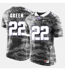 Men Tcu Horned Frogs Aaron Green College Football Grey Jersey