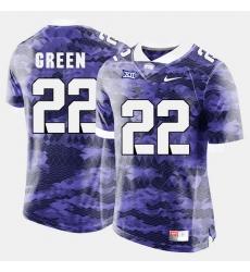 Men Tcu Horned Frogs Aaron Green College Football Purple Jersey