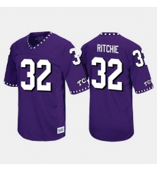 Men Tcu Horned Frogs Brandon Ritchie Throwback Purple Jersey