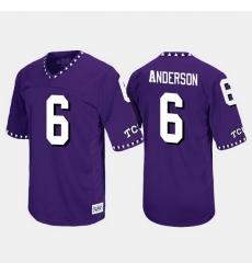 Men Tcu Horned Frogs Darius Anderson Throwback Purple Jersey