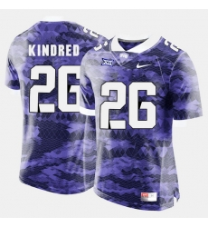 Men Tcu Horned Frogs Derrick Kindred College Football Purple Jersey