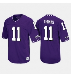 Men Tcu Horned Frogs Dylan Thomas Throwback Purple Jersey