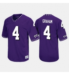 Men Tcu Horned Frogs Isaiah Graham Throwback Purple Jersey