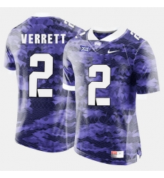 Men Tcu Horned Frogs Jason Verrett College Football Purple Jersey