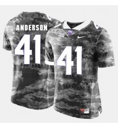 Men Tcu Horned Frogs Jonathan Anderson College Football Grey Jersey