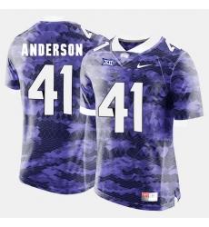 Men Tcu Horned Frogs Jonathan Anderson College Football Purple Jersey