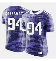 Men Tcu Horned Frogs Josh Carraway College Football Purple Jersey