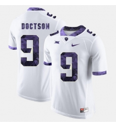 Men Tcu Horned Frogs Josh Doctson College Football White Jersey