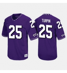 Men Tcu Horned Frogs Kavontae Turpin Throwback Purple Jersey