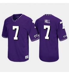 Men Tcu Horned Frogs Kenny Hill Throwback Purple Jersey