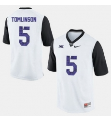 Men Tcu Horned Frogs Ladainian Tomlinson College Football White Jersey