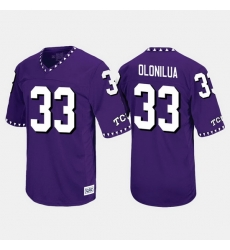 Men Tcu Horned Frogs Sewo Olonilua Throwback Purple Jersey