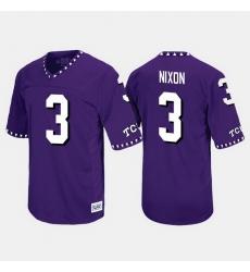 Men Tcu Horned Frogs Shaun Nixon Throwback Purple Jersey