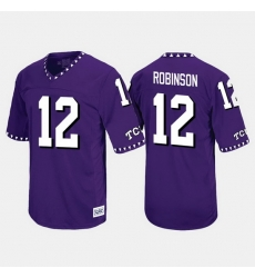 Men Tcu Horned Frogs Shawn Robinson Throwback Purple Jersey