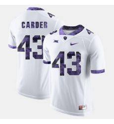Men Tcu Horned Frogs Tank Carder College Football White Jersey
