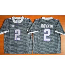TCU Horned Frogs #2 Trevone Boykin Grey Stitched NCAA Jersey