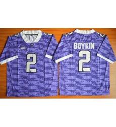 TCU Horned Frogs #2 Trevone Boykin Purple Stitched NCAA Jersey