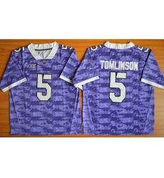 TCU Horned Frogs #5 LaDainian Tomlinson Purple Stitched NCAA Jersey