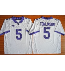TCU Horned Frogs #5 LaDainian Tomlinson White Stitched NCAA Jersey