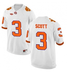 Clemson #3 Artavis Scott White 2017 National Championship Bound Limited Jersey