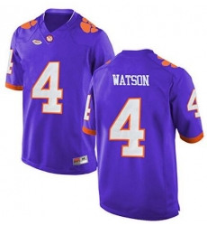 Clemson #4 Deshaun Watson Purple 2017 National Championship Bound Limited Jersey