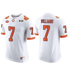Clemson #7 Mike Williams White 2017 National Championship Bound Limited Jersey