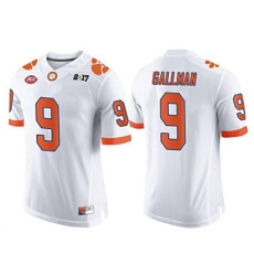 Clemson #9 Wayne Gallman White 2017 National Championship Bound Limited Jersey