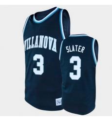 Men Villanova Wildcats Brandon Slater Alumni Navy College Baketball Jersey