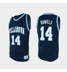 Men Villanova Wildcats Caleb Daniels Alumni Navy College Baketball Jersey