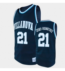 Men Villanova Wildcats Dhamir Cosby Roundtree Alumni Navy College Baketball Jersey