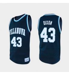 Men Villanova Wildcats Eric Dixon Alumni Navy College Baketball Jersey