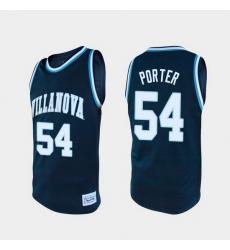Men Villanova Wildcats Howard Porter Alumni Navy College Baketball Jersey
