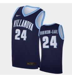 Men Villanova Wildcats Jeremiah Robinson Earl Replica Navy College Basketball Jersey
