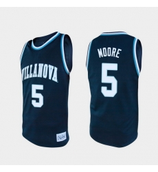 Men Villanova Wildcats Justin Moore Alumni Navy College Baketball Jersey