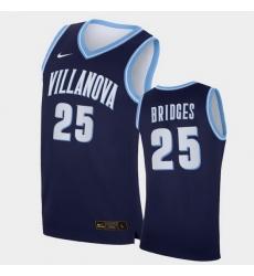Men Villanova Wildcats Mikal Bridges Replica Navy College Basketball Jersey
