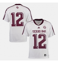 Men Texas A M Aggies College Football White Jersey