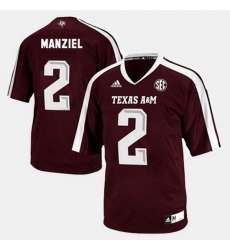 Men Texas A M Aggies Johnny Manziel College Football Red Jersey